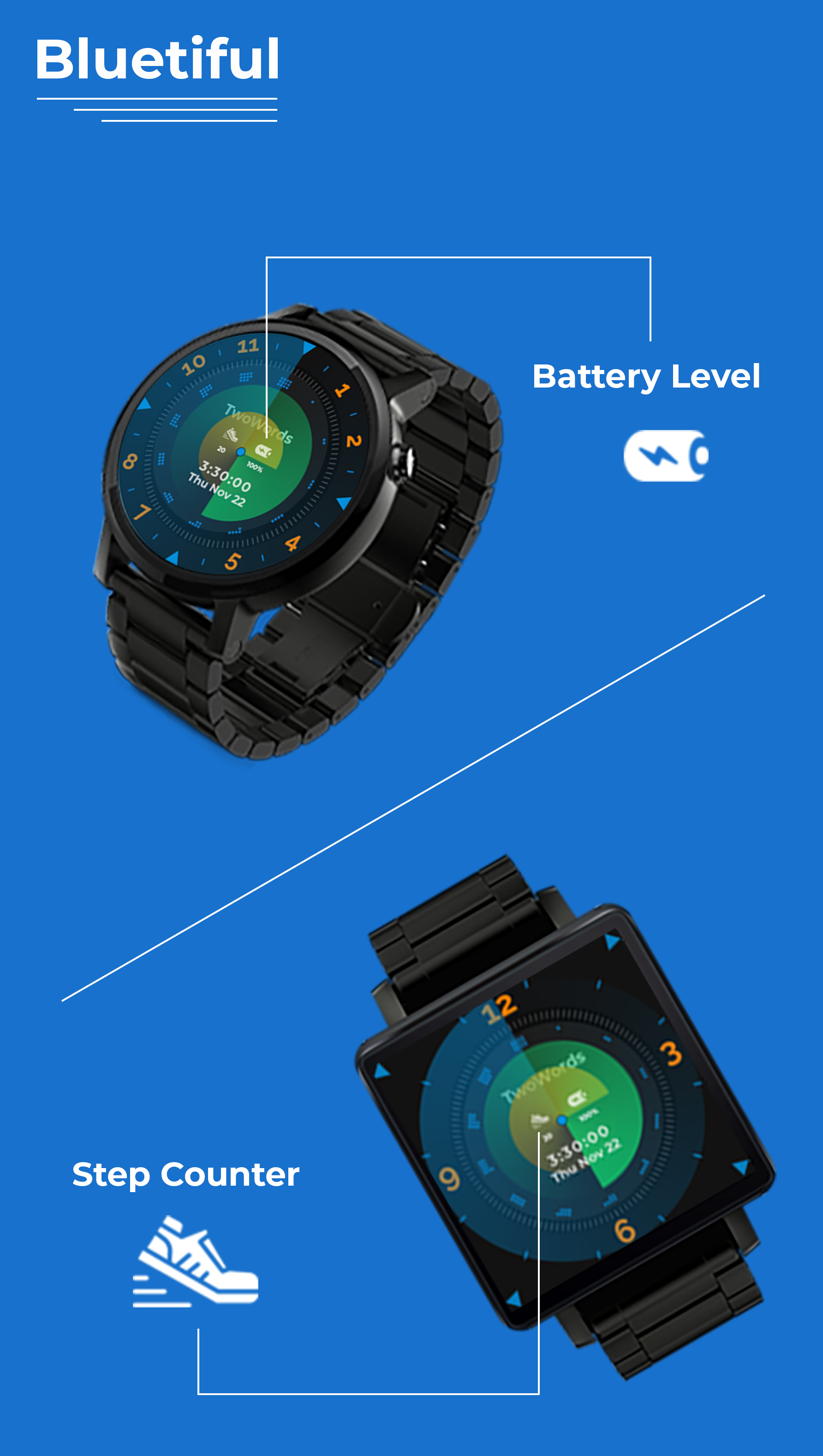 Krono Premium Watchfaces for Wear OS 2.0