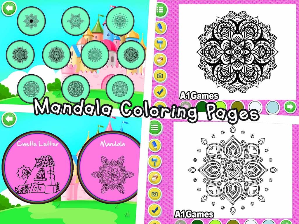 Indian Princess Doodle Colouring Book