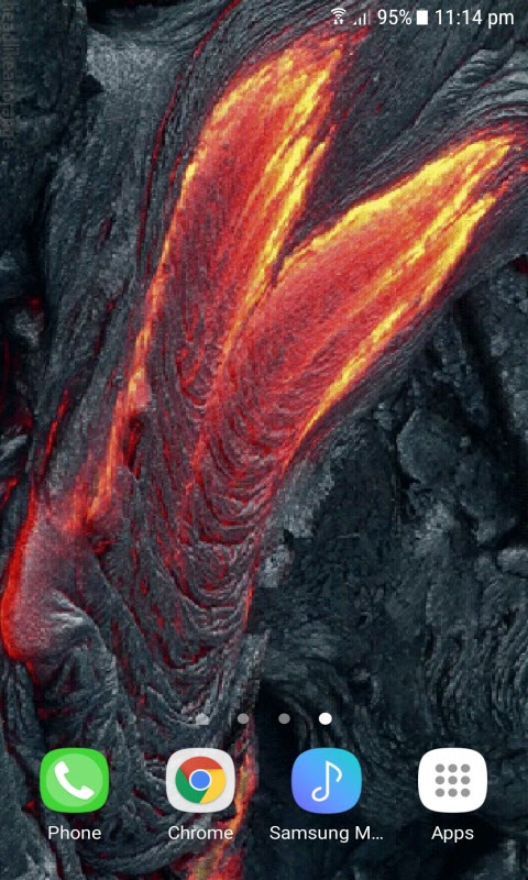 Mountain Lava Live Wallpaper