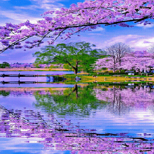 Nature Purple Lake LWP