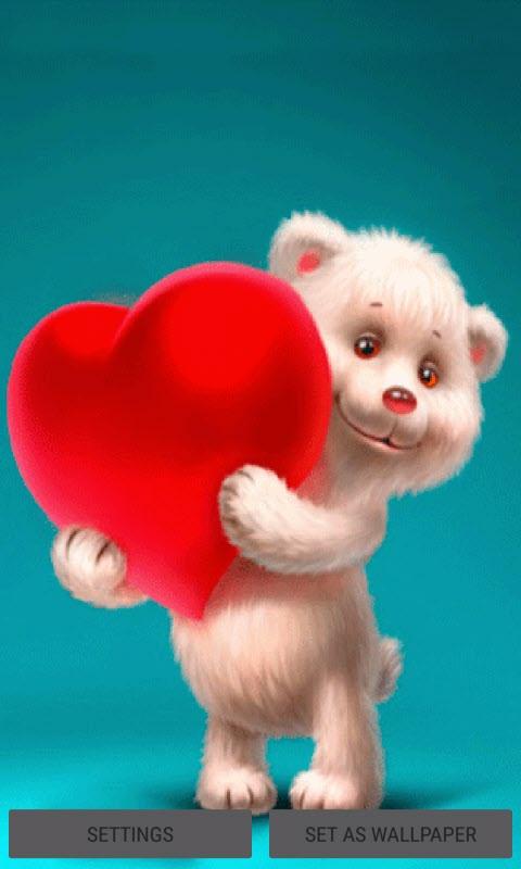 Teddy Red Heart LWP