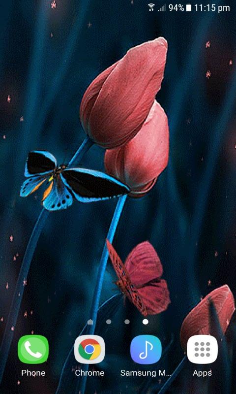 Tulip Flowers Butterfly LWP