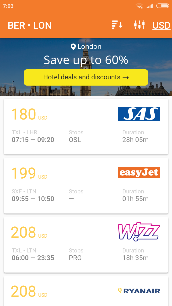 Cheap Flights - flight search app