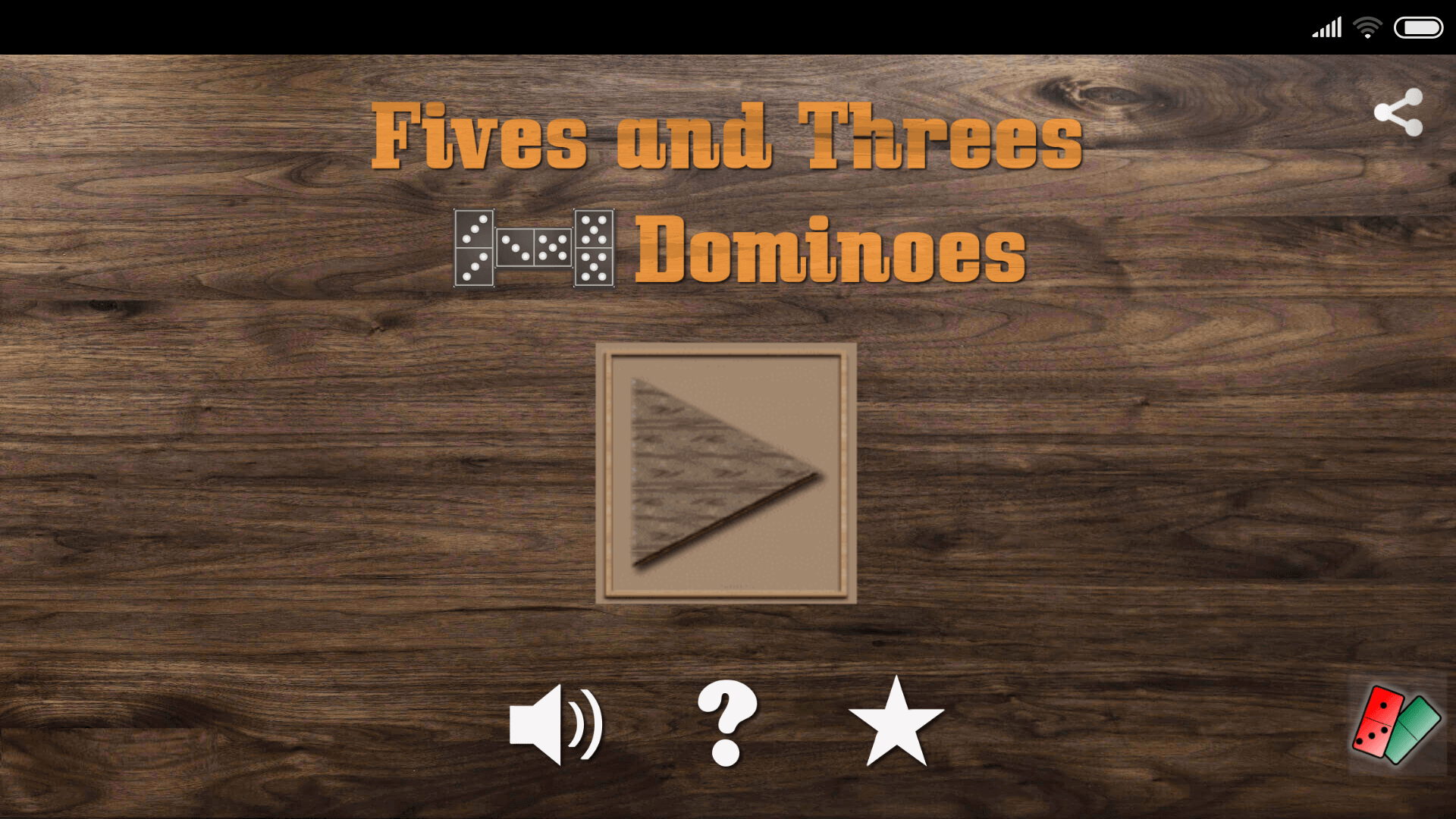 Fives and Threes Dominoes