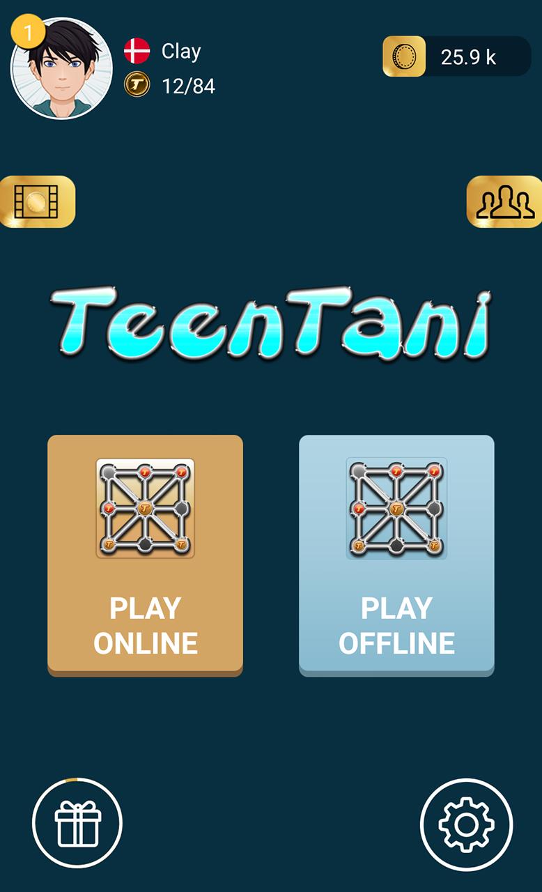 Three Men's Morris Online -Three Beads (TeenTani)