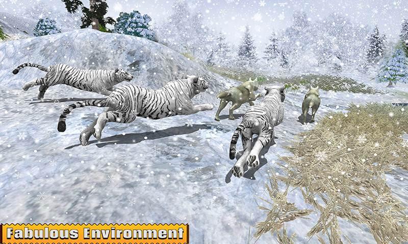 Arctic Wolf Family Simulator