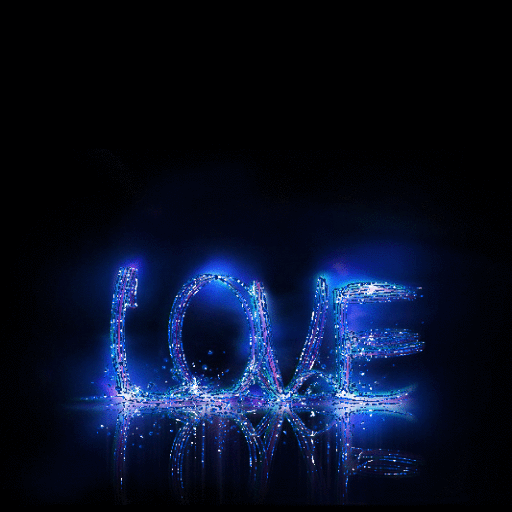 Blue Love Live Wallpaper