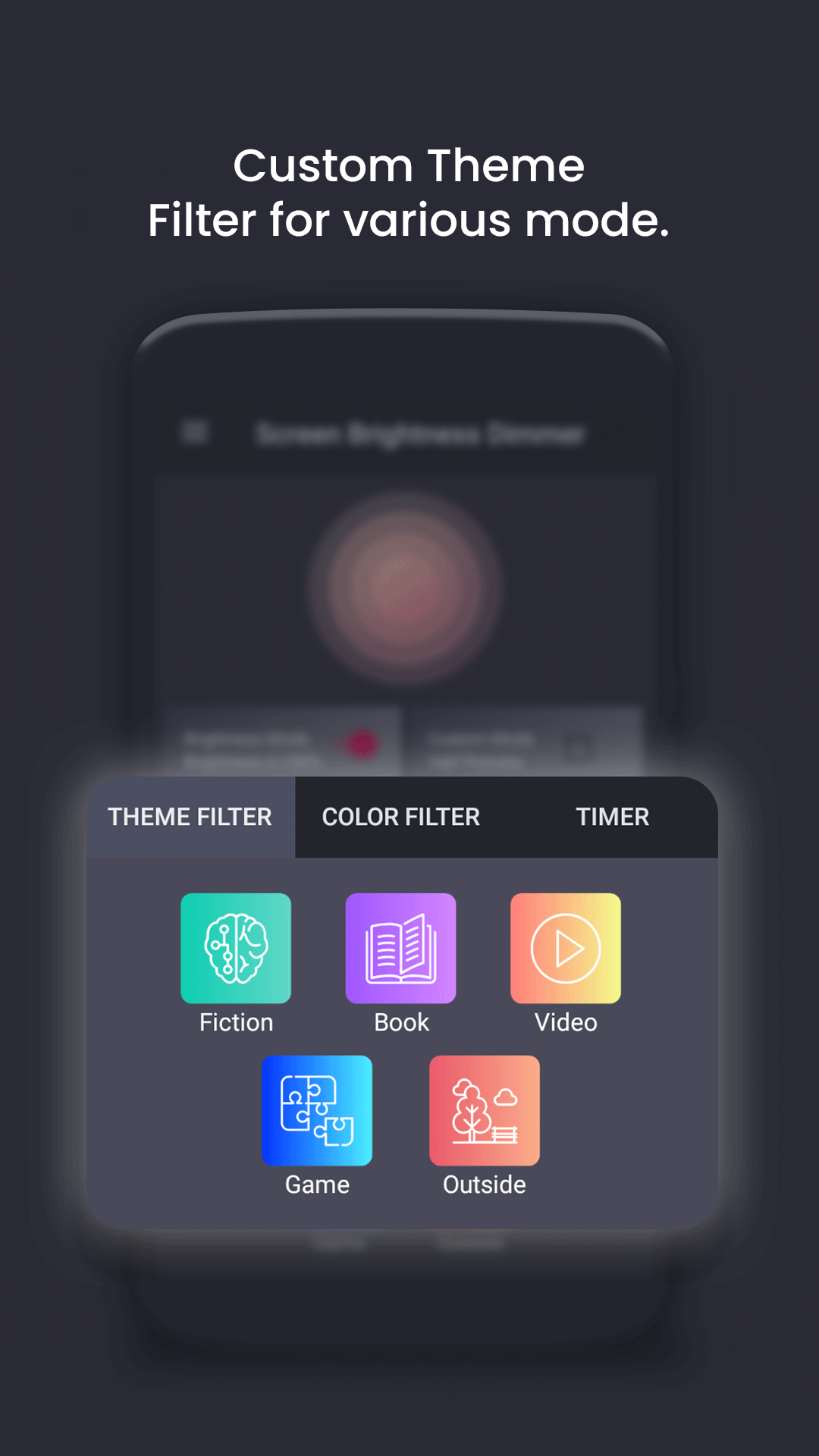 Screen Brightness Dimmer(BlueLight Filter) #adsfree
