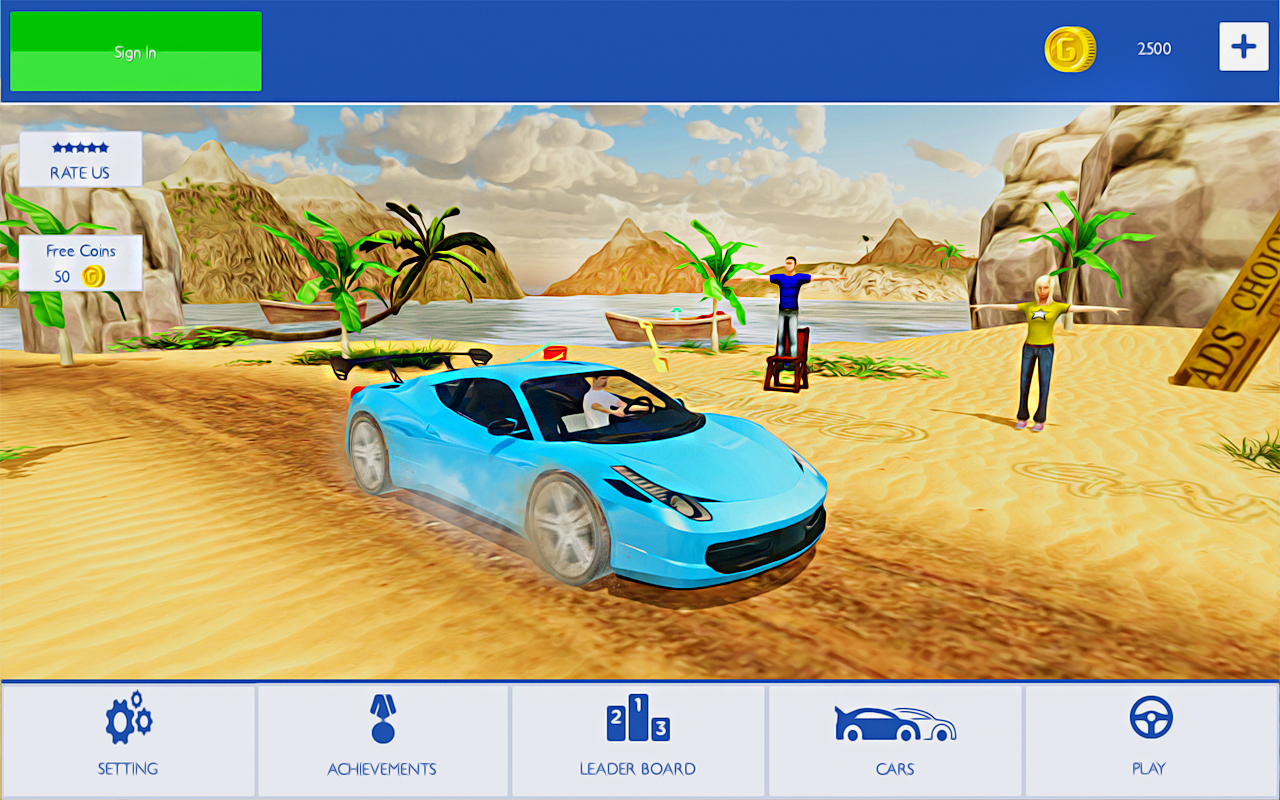 Water Surfer Car Racer - Water Games