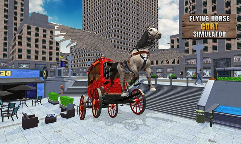 Flying Horse Taxi City Transport