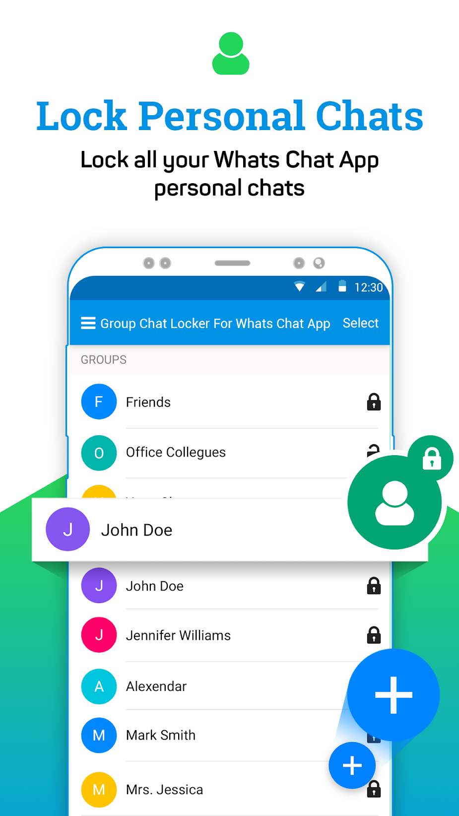 Group Chat Locker For Whats Chat App
