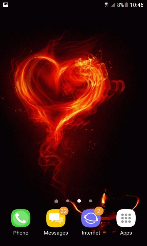 Smokey Red Heart LWP