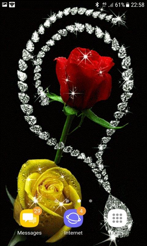 Diamond Rose Live Wallpaper