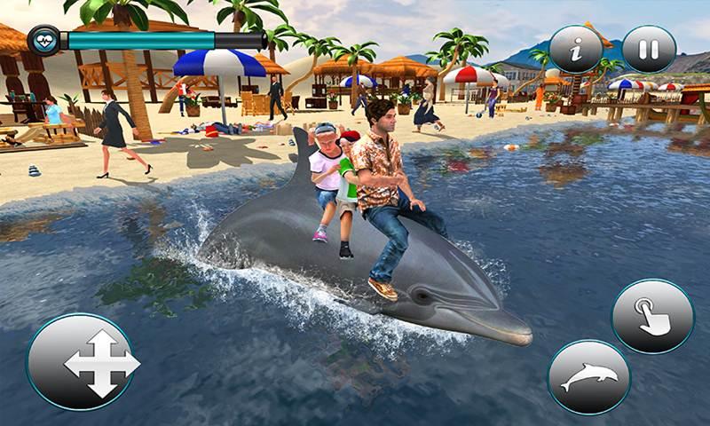 Dolphin Transport Passenger Beach Taxi Simulator
