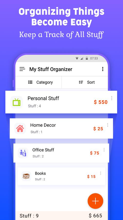 My Stuff Organizer: For Personal Stuff Management