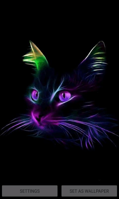 Neon Cat Live Wallpaper