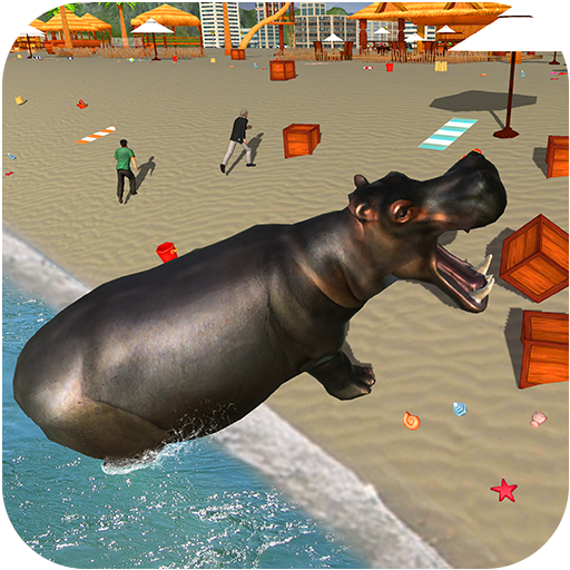 Wild Hippo Beach Attack Jungle Simulator