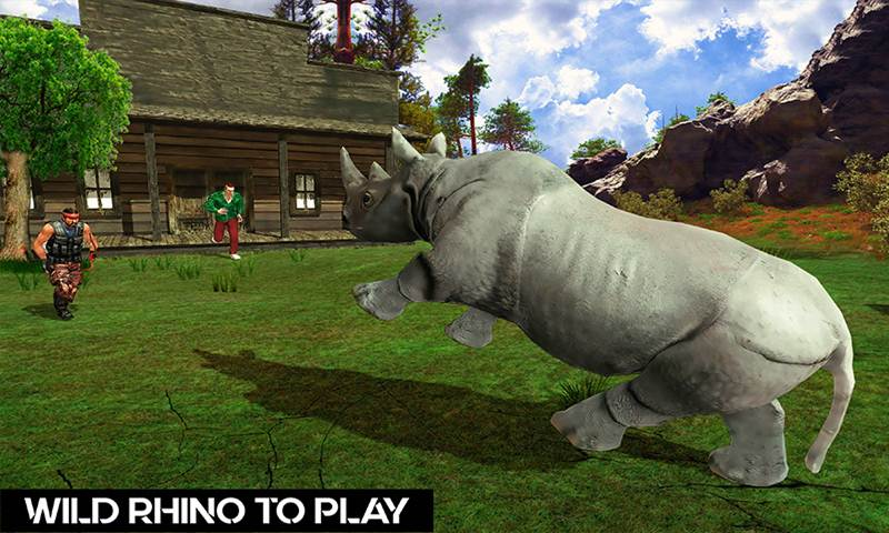 Wild Rhino Family Jungle Simulator