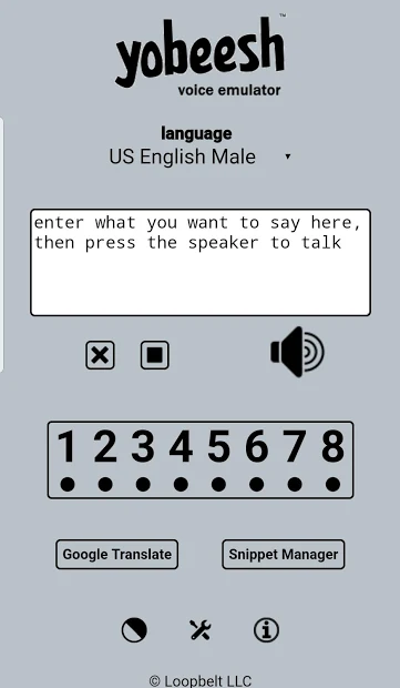 Yobeesh Voice Emulator (TTS) Text to Speech