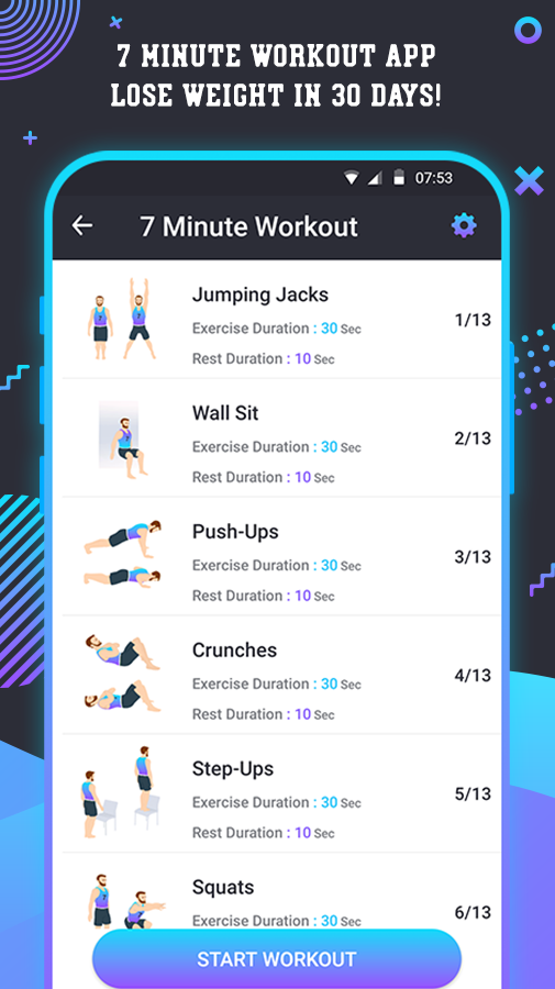 7 Minute Daily Workout Exercises for Weight Loss