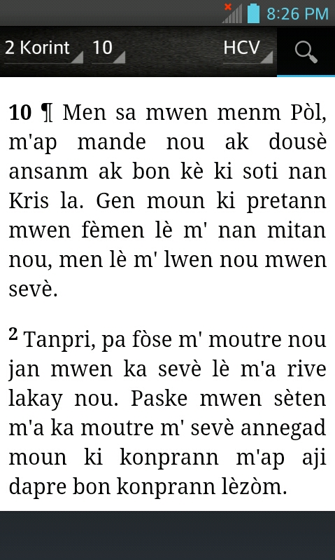 Bible HCV, Haitian Creole Version (Haitian Creole)
