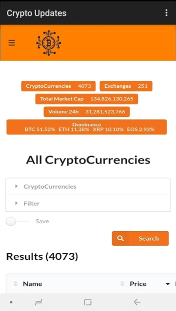 Crypto Update – Crypto Tracker & Bitcoin Prices