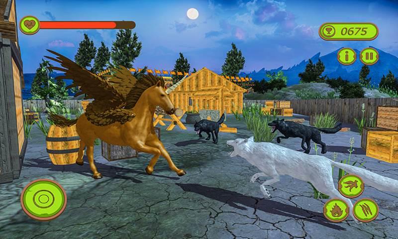 Flying Unicorn Horse Family Jungle Survival