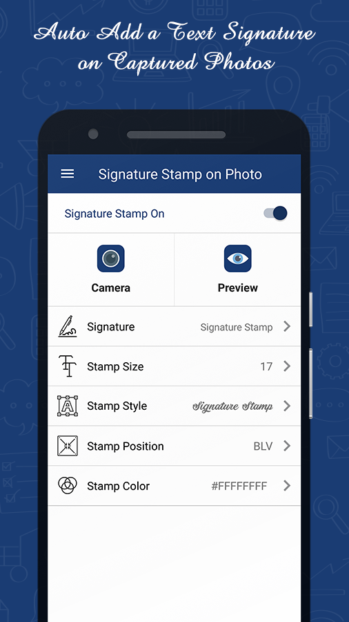 Signature Stamper: Auto Add Text on Camera Photos