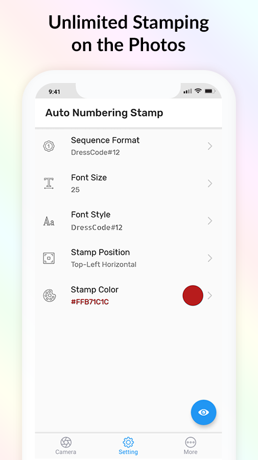 Auto Number Stamp