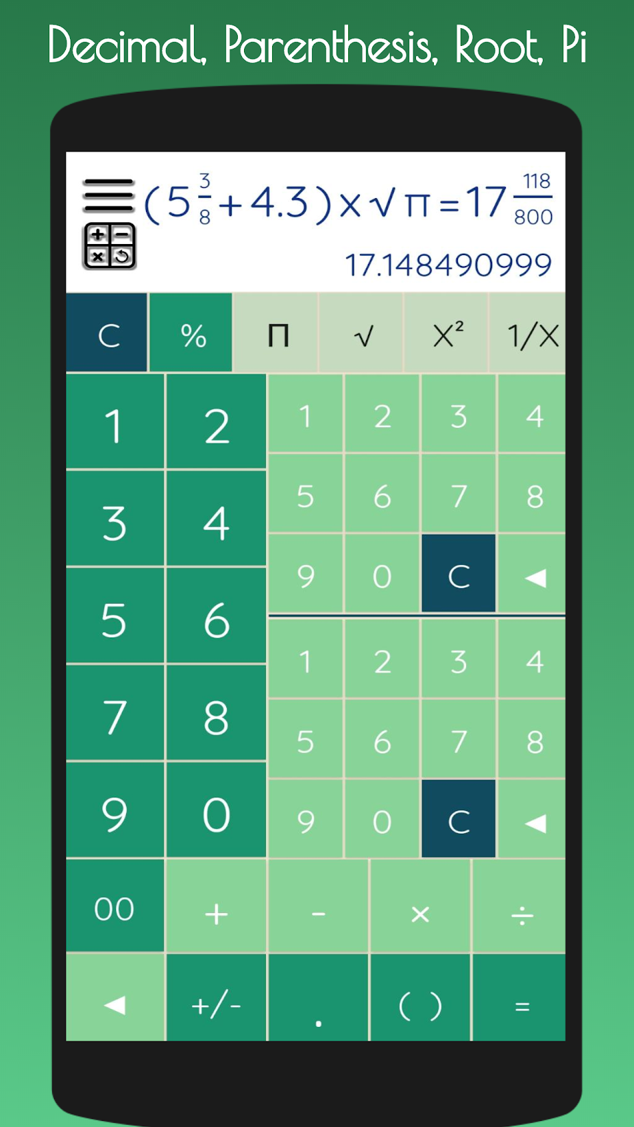 FractoCal Free Fraction Calculator