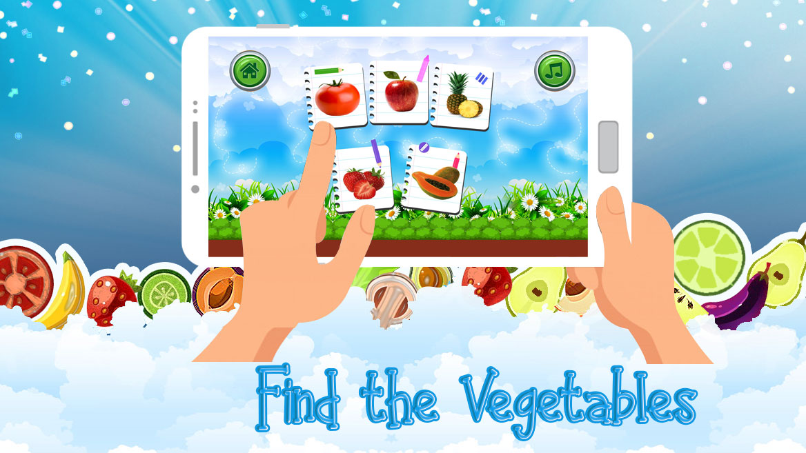 Fruit Vegetables Learning Apps for Kids Fun Games