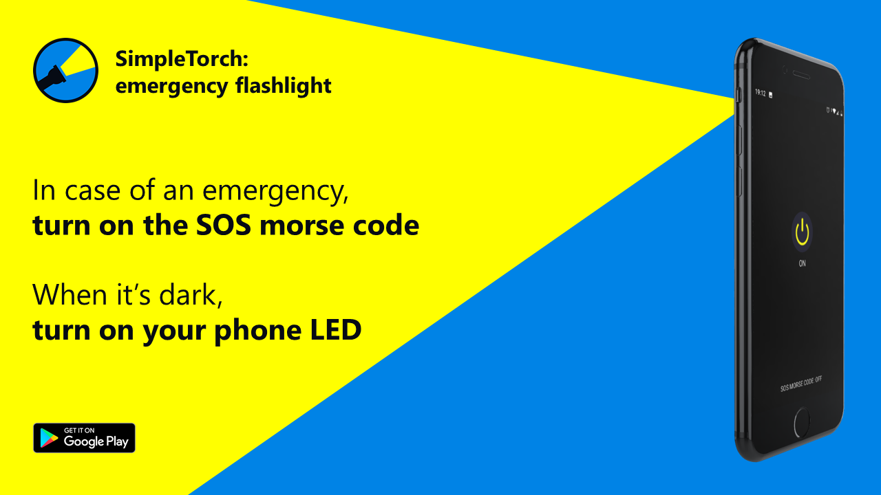 SimpleTorch: emergency flashlight with SOS