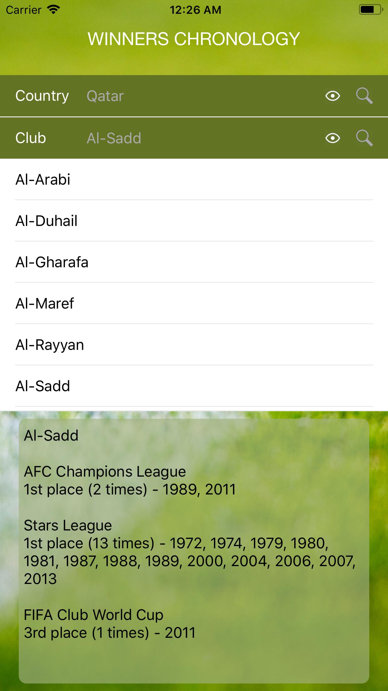 World Soccer Winners