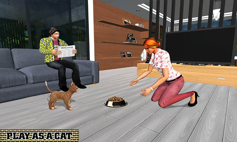 Virtual Kitten Family Pet Cat Adventure