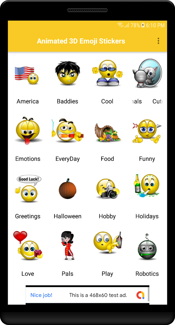 Animated 3D Emoji Stickers