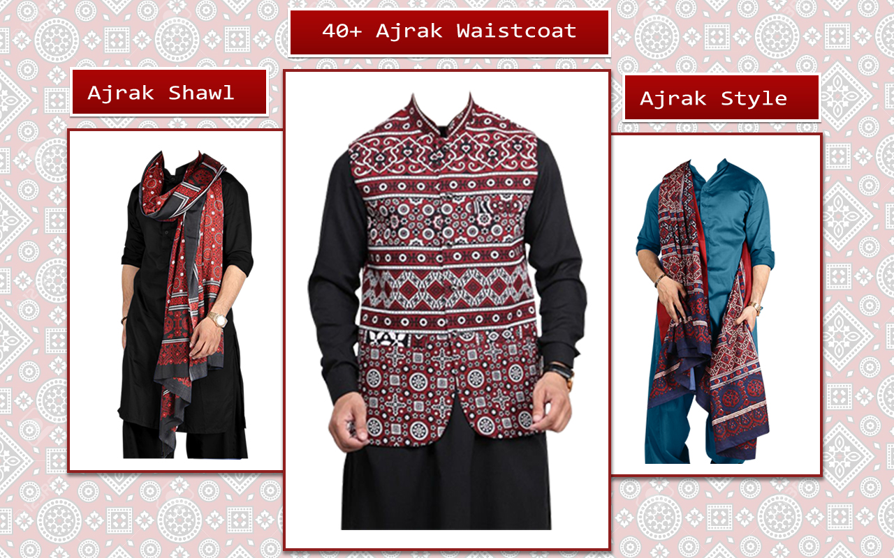 Sindhi Ajrak Man Style Photo montage