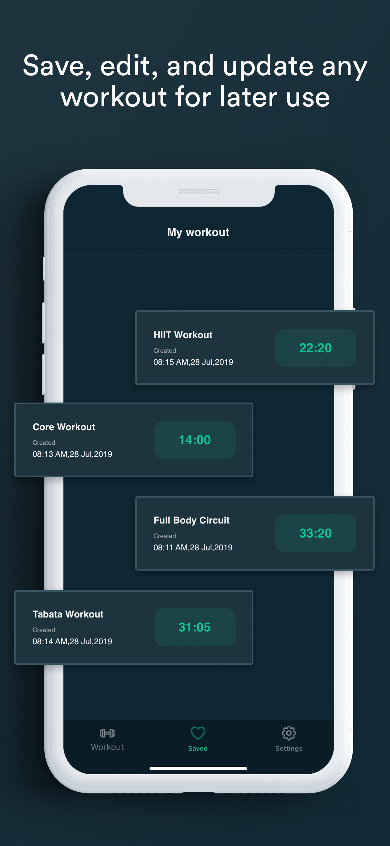 Workout Timer Custom Intervals