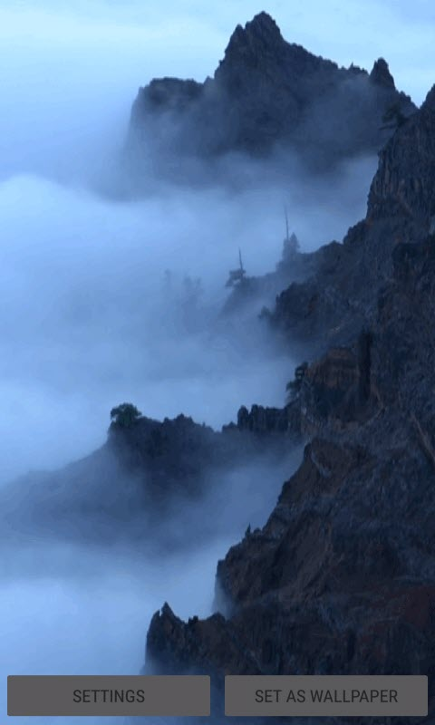 Foggy Mountain Live Wallpaper