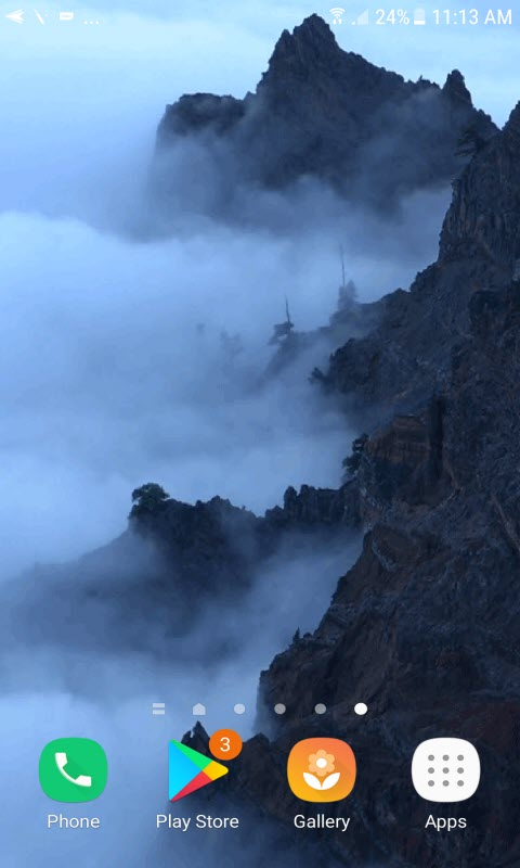 Foggy Mountain Live Wallpaper