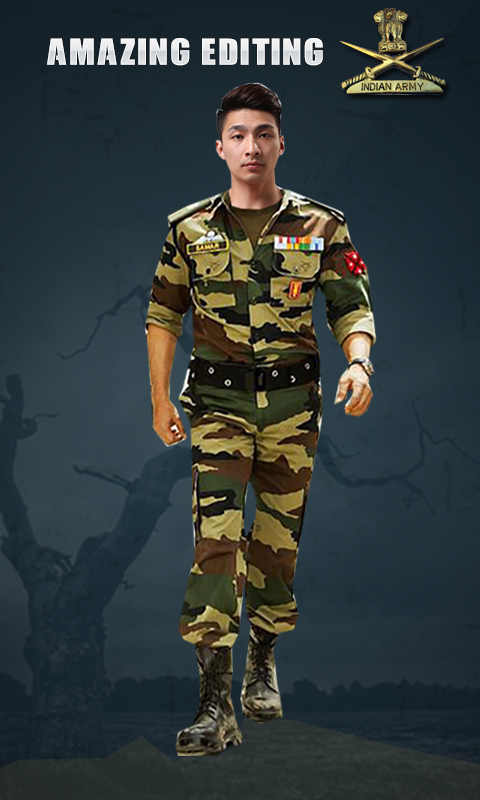 Indian Army Photo Suit Editor - Uniform Changer