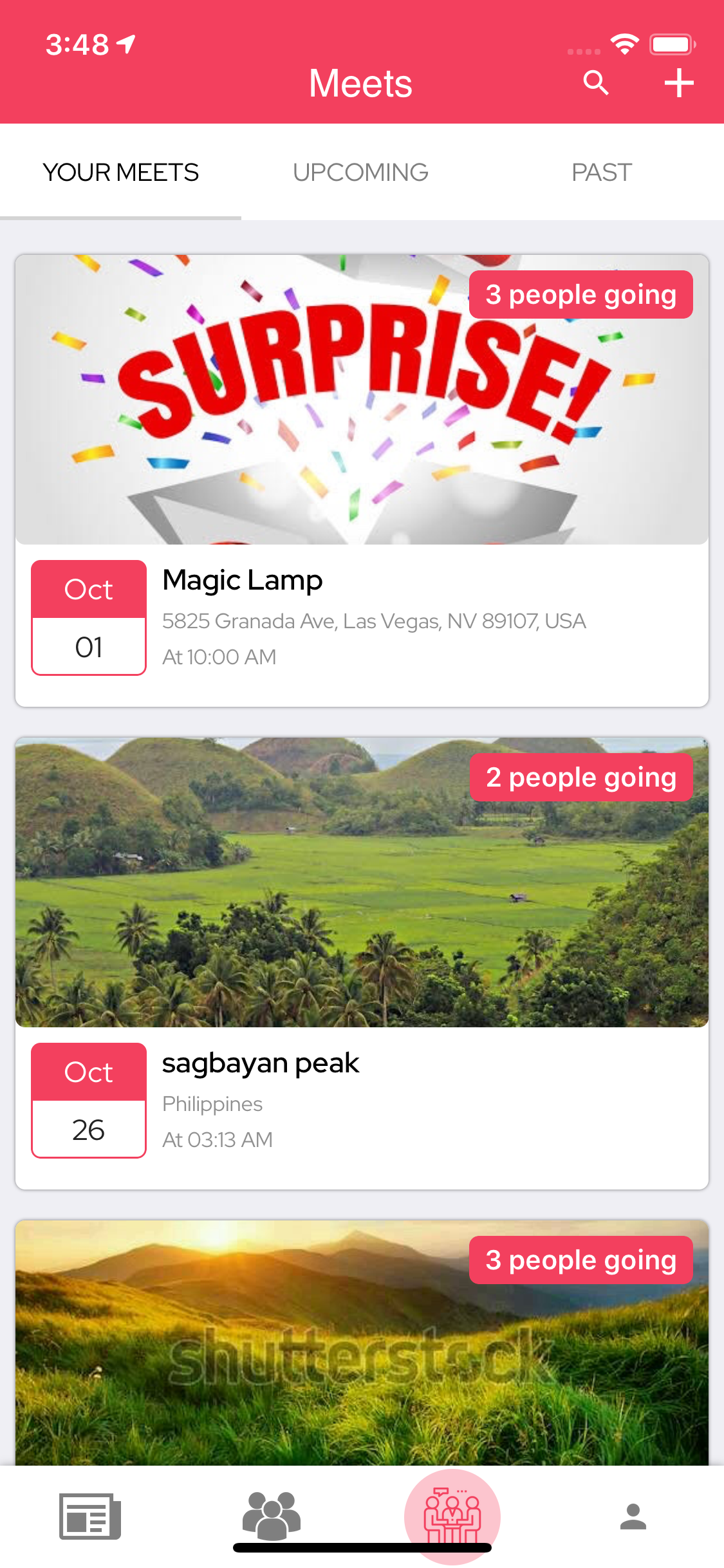 LetsMeet - iOS & Android Community & Meetup App + Admin panel