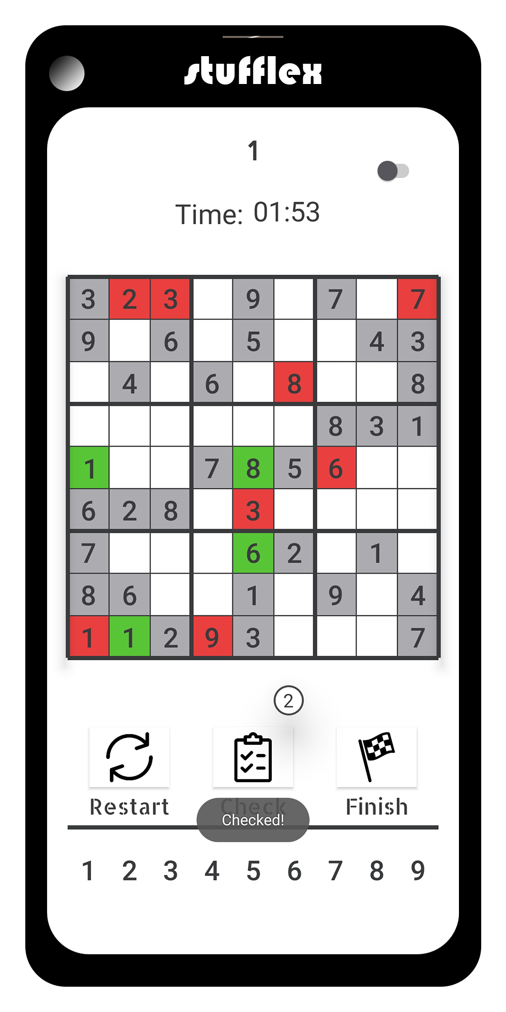 Sudoku: drag and drop