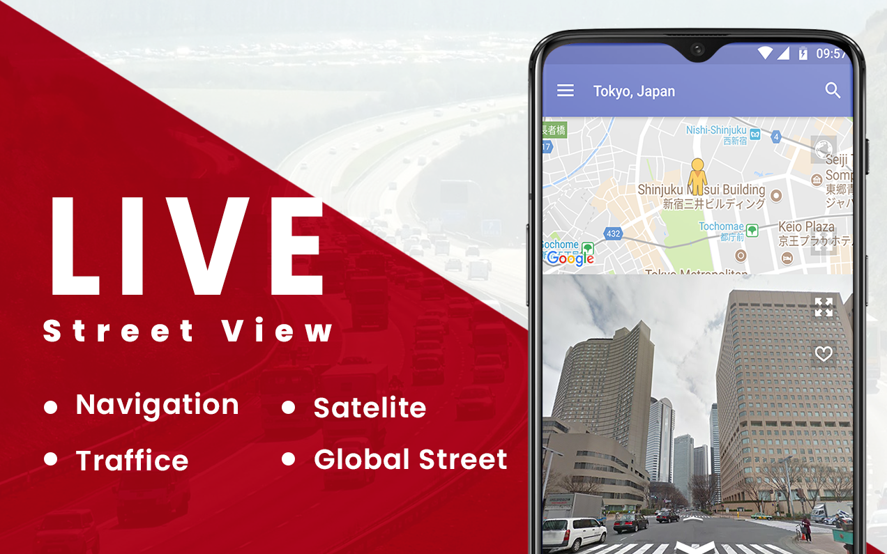Street view maps Live: GPS Route Maps & Navigation