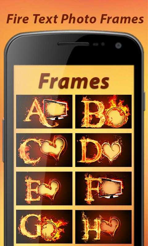Fire Text Photo Frame - Fire Text Photo Editor 🔥