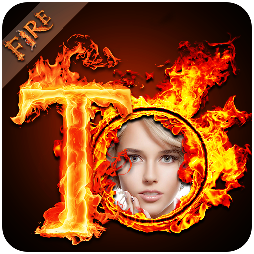 Fire Text Photo Frame - Fire Text Photo Editor 🔥