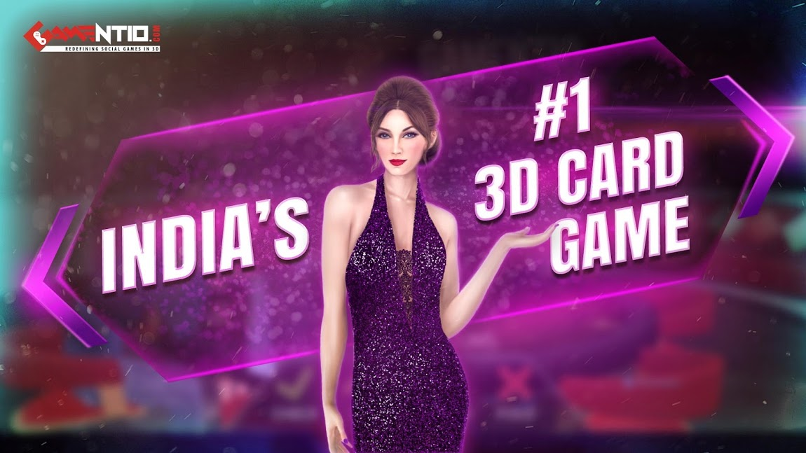 Gamentio 3D: Poker Teenpatti Rummy Slots +More