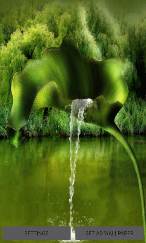 Leaf Fountain Live Wallpaper