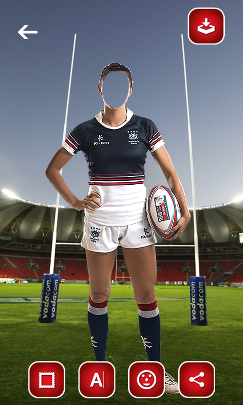 Rugby Suit Photo Editor