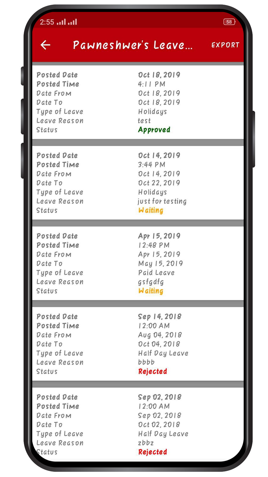 Chase - Sales Employee Tracking App