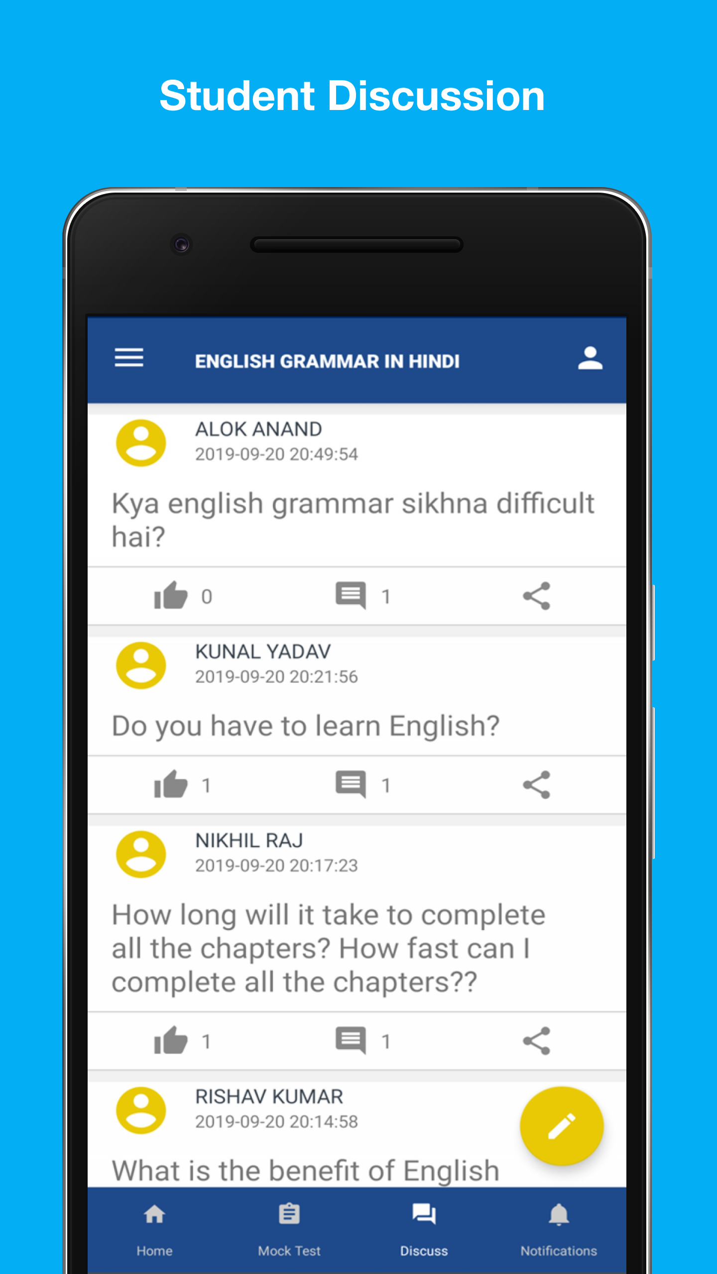 English Grammar in Hindi